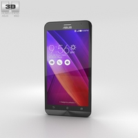 Asus Zenfone 2 Osmium Black Phone 3D Model