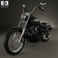 Harley-Davidson FXDB Dyna Street Bob 2006 3D Model