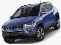 Jeep Compass 2017 3D Model