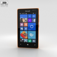 Microsoft Lumia 435 Orange 3D Model