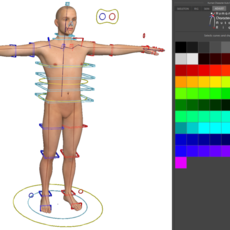 Human Character in 1 minute (skeleton, rig & bind skin in 1 minute) for Maya 3.0.0 (maya script)