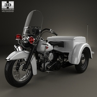 Harley-Davidson Servi-Car Police 1958 3D Model