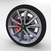 Tesla Model 3 Wheel 3D Model