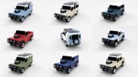Land Rover Defender Pack 3D Model