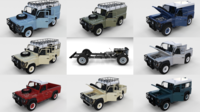 Full Land Rover Defender Pack (w chassis and interior) 3D Model