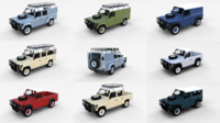 Land Rover Defender Pack with interior 3D Model