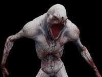 Blind Meat Eater Animated 3D Model