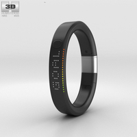 Nike+ FuelBand SE Metaluxe Limited Silver Edition 3D Model