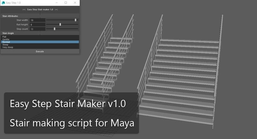 Easy Step Stair Maker For Maya