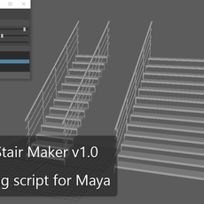 Easy Step Stair Maker for Maya 1.0.0 (maya script)