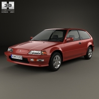 Honda Civic hatchback 1987 3D Model