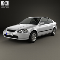 Honda Civic coupe 1996 3D Model