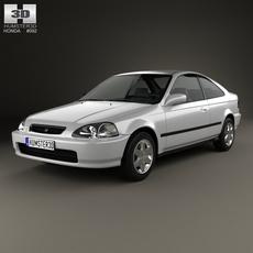 Honda Civic coupe 1996 3D Model