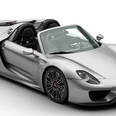 Porsche 918 Spyder with detachable roof 3D Model