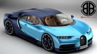 Bugatti Chiron 2017 3D Model