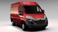 Citroen Jumper Van L1H2 2017 3D Model