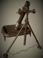 M1 Mortar 3D Model