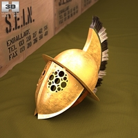 Thracian Gladiator Helmet 3D Model