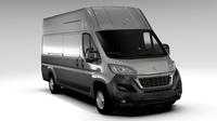 Peugeot Boxer Van L4H3 2017 3D Model