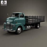 Chevrolet COE Flatbed Truck 1948 3D Model