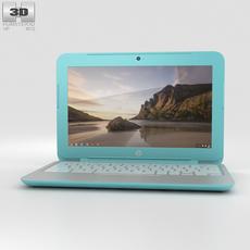 HP Chromebook 11 G3 Ocean Turquoise 3D Model