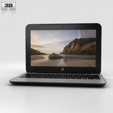HP Chromebook 11 G3 Twinkle Black 3D Model