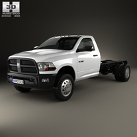Dodge Ram Regular Cab Chassis 2012 3D Model
