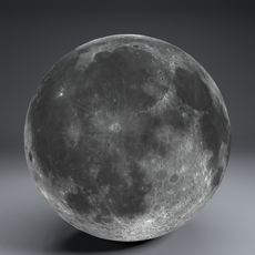 Moon Globe 23k 3D Model