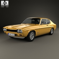 Ford Capri RS 2600 1970 3D Model