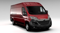 Citroen Jumper Van L4H2 2017 3D Model