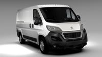 Peugeot Boxer Van L2H1 2017 3D Model