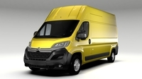 Citroen Relay Van L3H3 2017 3D Model