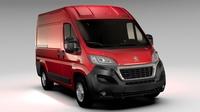 Peugeot Boxer Van L1H2 2017 3D Model