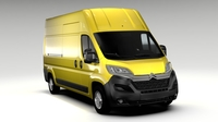 Citroen Jumper Van L3H3 2017 3D Model