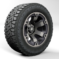 Off road wheel and tire Toyo RT 3D Model