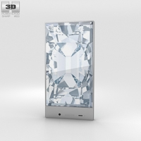 Sharp Aquos Crystal Blue Phone 3D Model