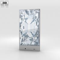 Sharp Aquos Crystal Pink Phone 3D Model