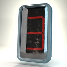 Electronic digits 3D Model