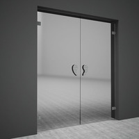 Free Swing glass doors 3D Model