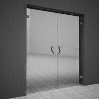 Swing glass doors 3D Model