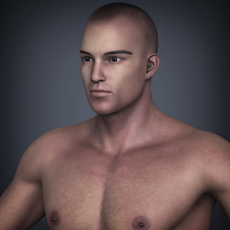 Realistic Muscular Male Street Fighter with Hand Gloves and Shorts 3D Model