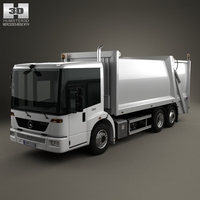 Mercedes-Benz Econic Garbage Truck Rolloffcon 3axle 2009 3D Model