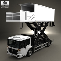 Mercedes-Benz Econic Airport Lift Platform Truck 2013 3D Model