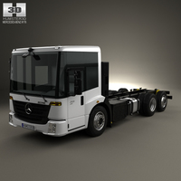 Mercedes-Benz Econic Chassis Truck 3axle 2013 3D Model