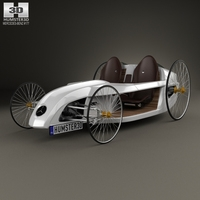 Mercedes-Benz F-Cell Roadster 2009 3D Model