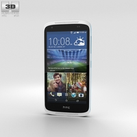 HTC Desire 526G+ Glacier Blue Phone 3D Model