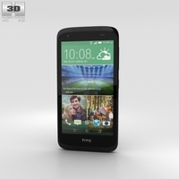 HTC Desire 526G+ Lacquer Black Phone 3D Model