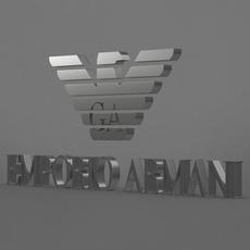 emporio armani logo 3D Model