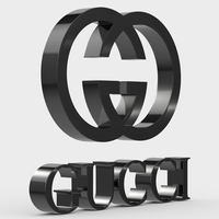 gucci logo 3D Model