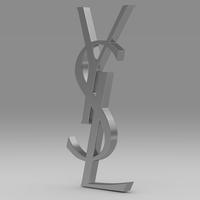 Yves Saint Laurent logo 3D Model